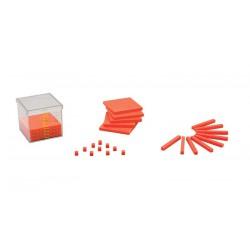 7024 Contenitore cubico da 1 dm3 con ripiani, regoli e cubi