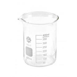 V35 Vaso graduado de vidrio de forma baja