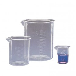 K1542 Bicchieri graduati in plastica trasparente