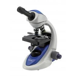 B-191 Microscopio monoculare 1000x, tavolino doppio strato, con illuminazione X-LED