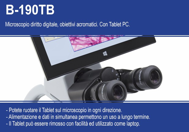 B-190TB Microscopio digitale da routine con tablet