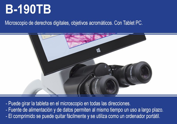 Microscopios de derechos digitales con tablet PC